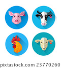 Farm Animal Set Icon Collection 23770260
