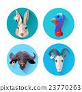 Farm Animal Set Icon Collection 23770263