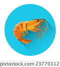 Cooked Shrimp Seafood Icon 23770312