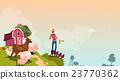Farmer Breeding Animals Farmland Background 23770362