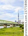 东京晴空塔 初夏 桥梁 23773806