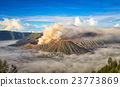 Mount Bromo, active volcano during sunrise. 23773869