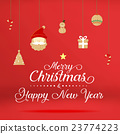 christmas and happy new year with wood icon  23774223