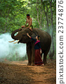 The elephant and mahout with woman 23774876