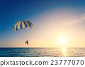 ocean, parachute, parasail 23777070