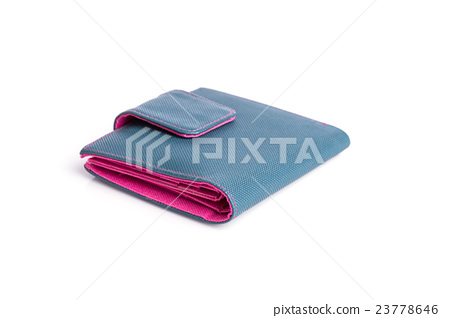 New pink wallet isolated on white background 23778646