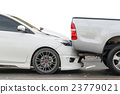 Car accident involving two cars on the street 23779021