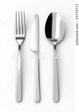 Fork, spoon and knife 23779713