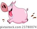 Pig running 23780074