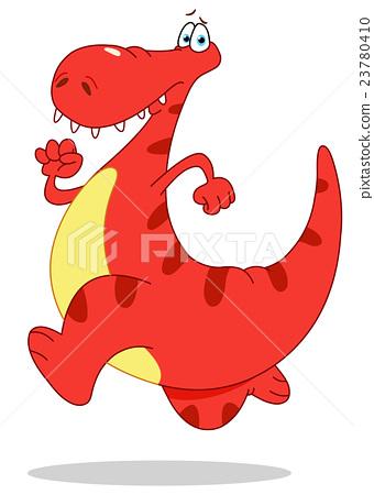 Running dinosaur 23780410