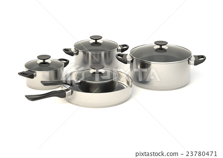 Stainless steel pots and pans 23780471