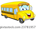 Cartoon school bus 23781957