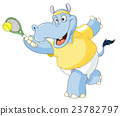 Tennis hippo 23782797
