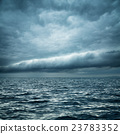 Stormy Sea. Wild Nature Dark Background.  23783352