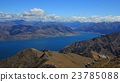 Lake Hawea and mountains, view from Breast Hill 23785088