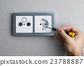 Installing AC power socket 23788887