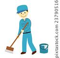 gents, Cleaning Staff, white background 23790516