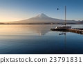 Mount Fuji in the early morning with reflection 23791831