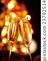 香槟 香槟杯 圣诞节 23792514