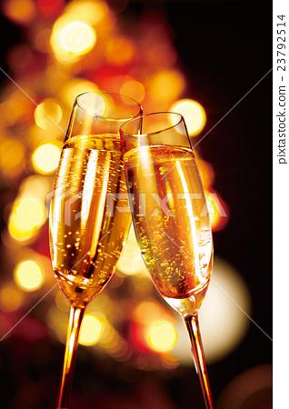 香檳 香檳杯 聖誕季節 23792514