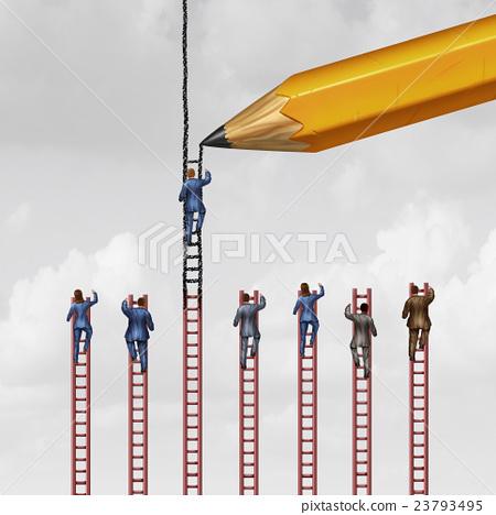 Stock Illustration: Career Advice Concept