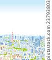 东京townscape例证概略的视图 23793803
