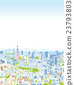 tokyo, tokyo tower, bird's-eye view 23793803