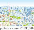 東京townscape例證概略的視圖 23793806