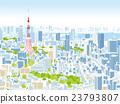 東京townscape例證概略的視圖 23793807
