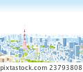 東京townscape例證概略的視圖 23793808