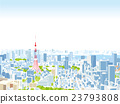 tokyo, tokyo tower, bird's-eye view 23793808