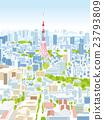 东京townscape例证概略的视图 23793809