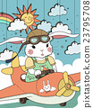 bunny pilot coloring page 23795708