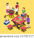 BBQ party scene 23795727