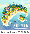 Attractive summer poster 23795834