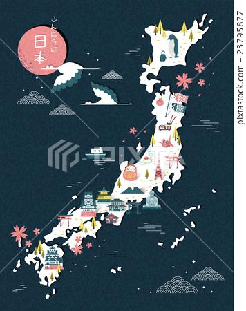 Japan travel map 23795877