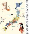 elegant Japan travel map 23795880