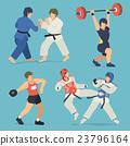 athlete, set, sport 23796164