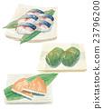 壽司 鯖魚壽司 白底 23796200