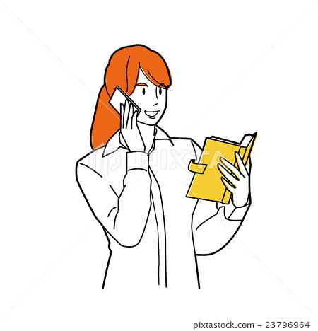智能手机 日程表 事业女性 23796964