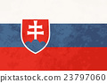 True proportions Slovakia flag with texture 23797060