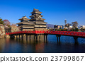 Matsumoto castle in spring season, Nagano, Japan 23799867