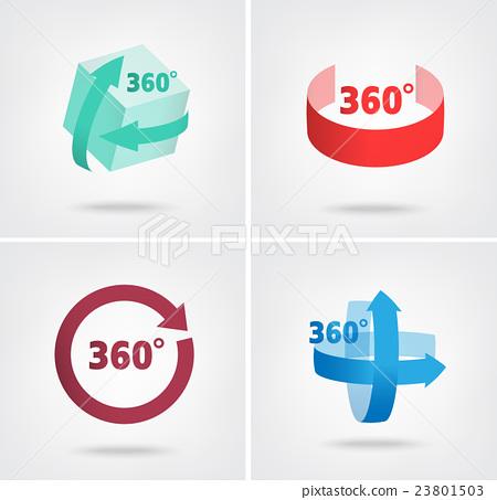 Angle 360 Degrees Sign Icons Stock Illustration 23801503 Pixta