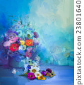 Oil painting  still life bouquet flowers 23801640
