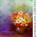 Oil painting flowers in vase 23801642