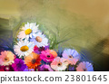 Oil painting  still life bouquet flowers 23801645