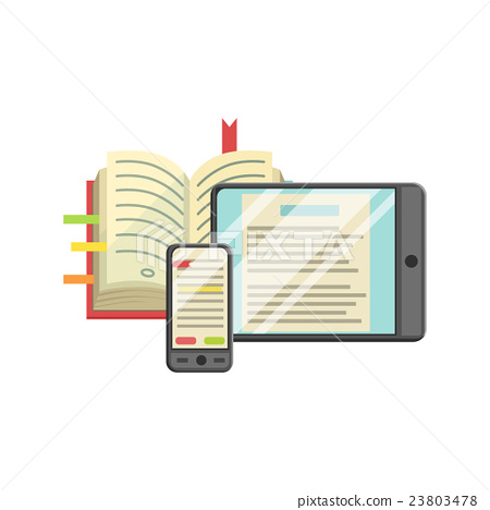 Modern Learning With Book, Smartphone And Tablet 23803478