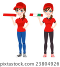 Pizza Delivery Woman 23804926