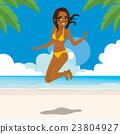 海滩 比基尼 跳 23804927
