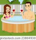Couple On Jacuzzi 23804930